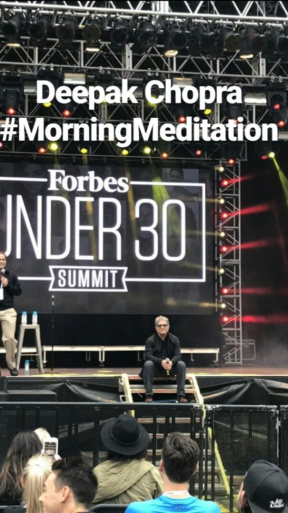 Deepak Chopra at the Forbes under 30 Summit