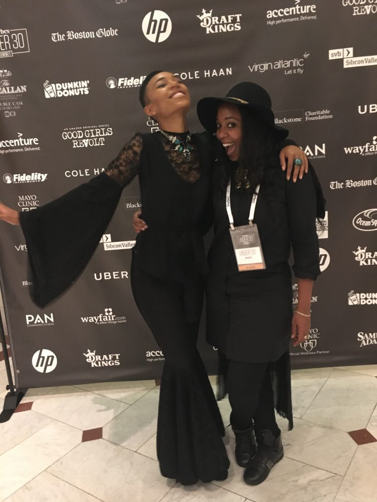 Kriss Mincey & I at Forbes under 30 Summit